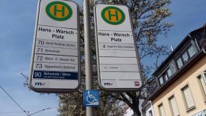 Anfahrt Strassenbahn Praxis Frohnapfel